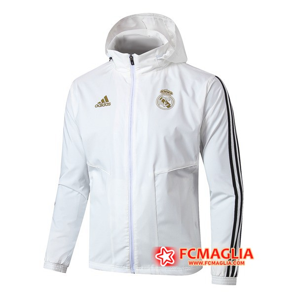 Giacca A Vento Real Madrid Bianco 19/20