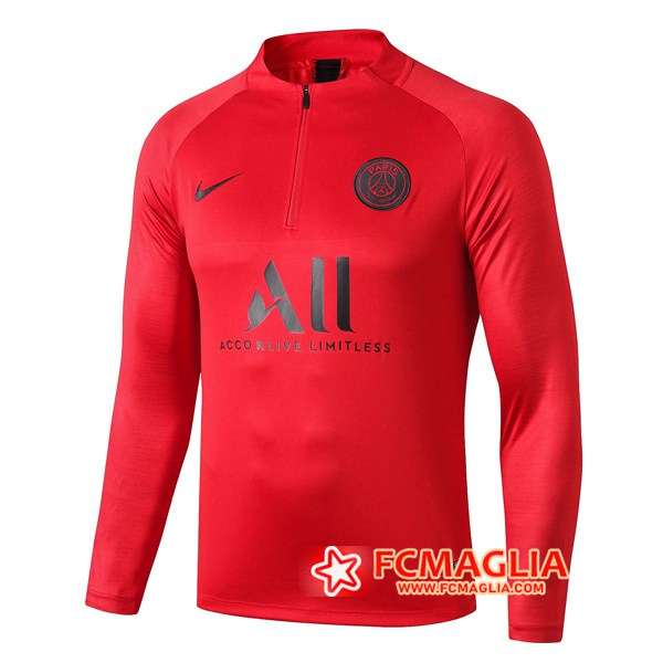 Felpa da training PSG ALL Rosso 19/20