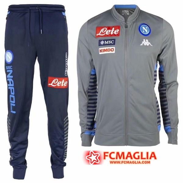 Tuta Allenamento SSC Napoli Grigio 19/20 Giacca Pantaloni ...