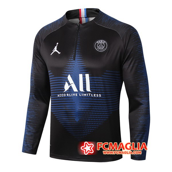 Felpa da training Paris PSG Jordan ALL Blu Reale 19/20