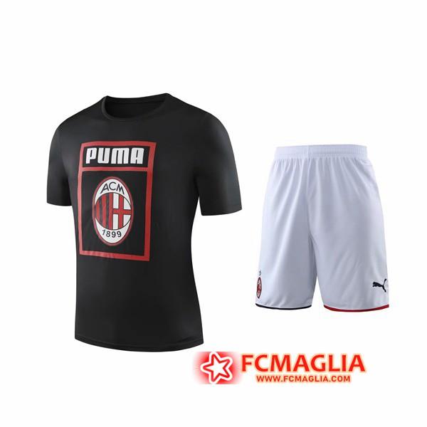 Kit Maglia Allenamento Milan AC Shorts Nero 2019/20   Venduto a ...