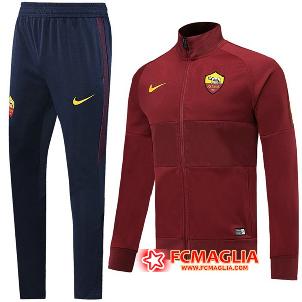 Tuta Allenamento AS Roma Brown 19/20 Giacca + Pantaloni