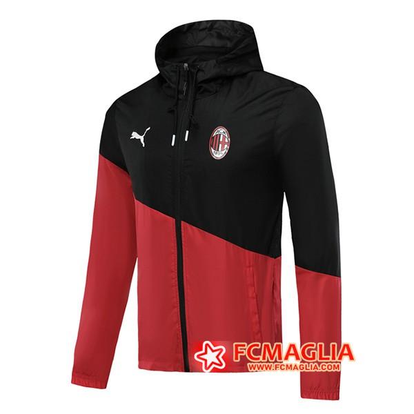 Giacca A Vento Milan AC Nero/Rosso 2019/20 | Venduto a scontate prezzo