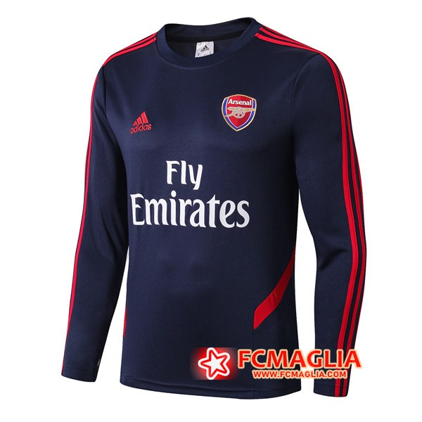Felpa da training Arsenal Colletto Tondo Blu Scuro 19/20