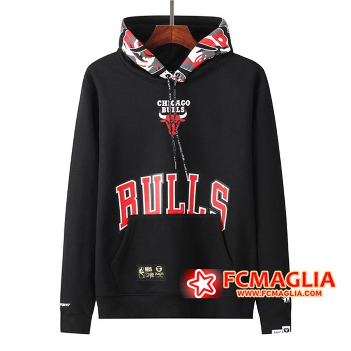 Negozio Le Nuove Felpa Allenamento Chicago Bulls Nero 2021