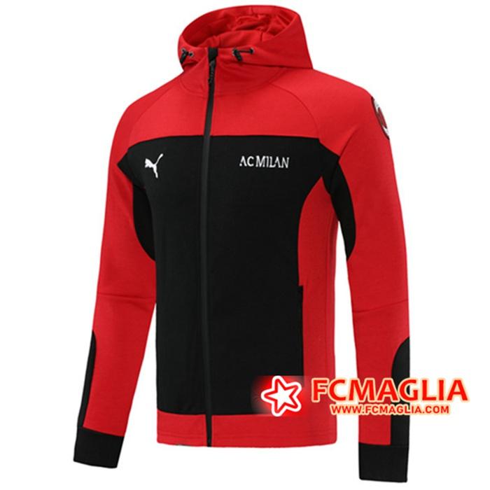 Acquisto Nuove Giacca Con Cappuccio AC Milan Rosso/Nero 2020/2021