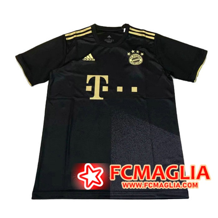 Nuova T Shirt Allenamento Bayern Monaco Nero 2021/2022 Basso Prezzo