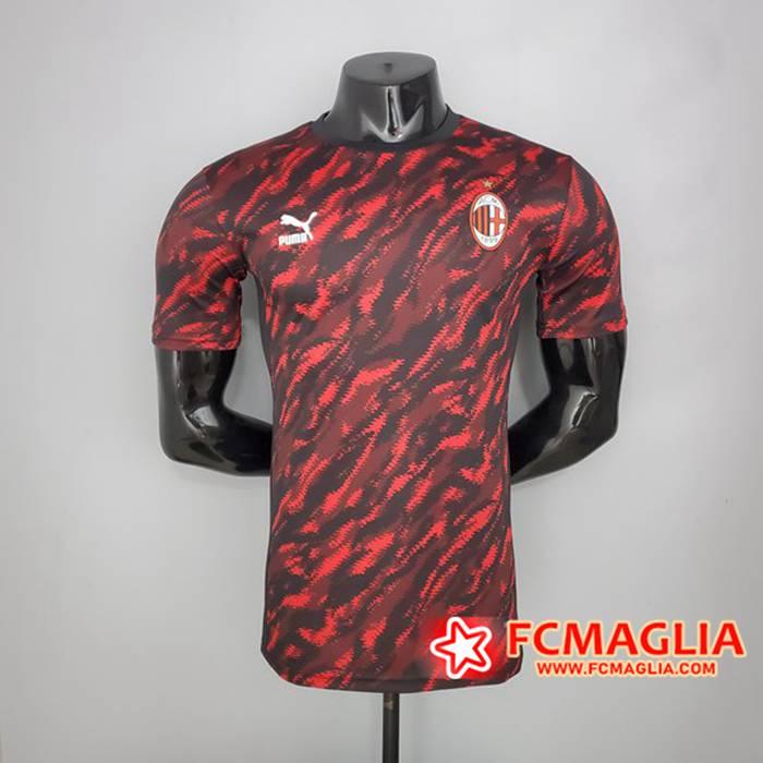 Nuove T Shirt Allenamento AC Milan Player Version Rosso/Blu 2021 ...