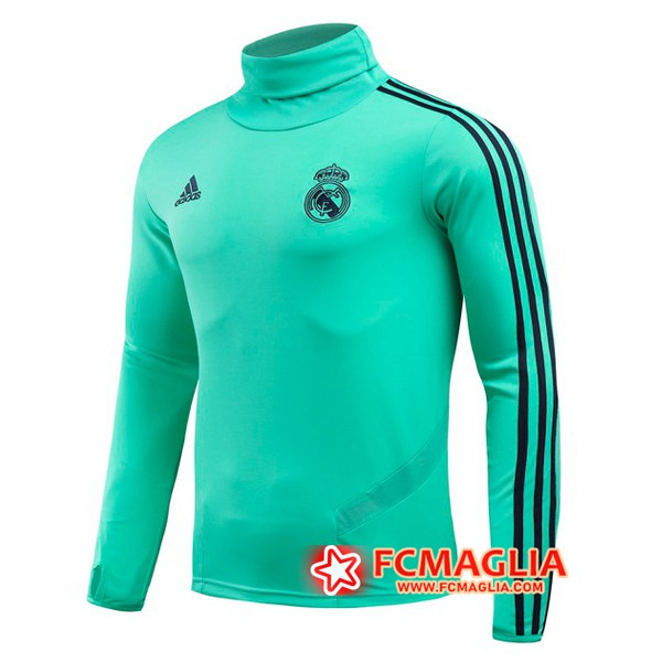 Felpa da training Real Madrid Verde Collo Alto 19/20