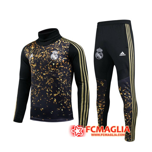 Tuta Allenamento Real Madrid Adidas × EA Sports™ FIFA 20 Nero Collo Alto 19/20 + Pantaloni