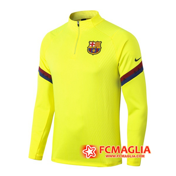 Felpa da training FC Barcellona Giallo 2020/2021