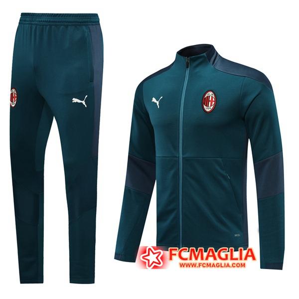 Tuta Allenamento Milan AC Verde 2020/2021 Giacca Pantaloni ...
