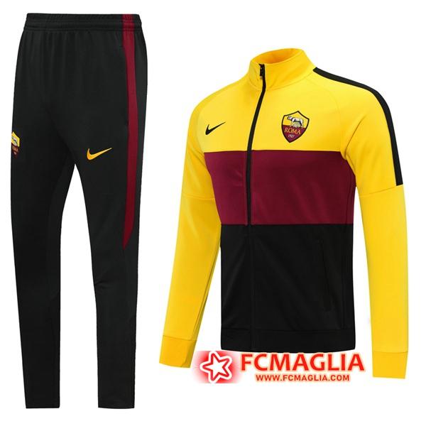 Tuta Allenamento AS Roma Giallo 2020/2021 Giacca Pantaloni ...