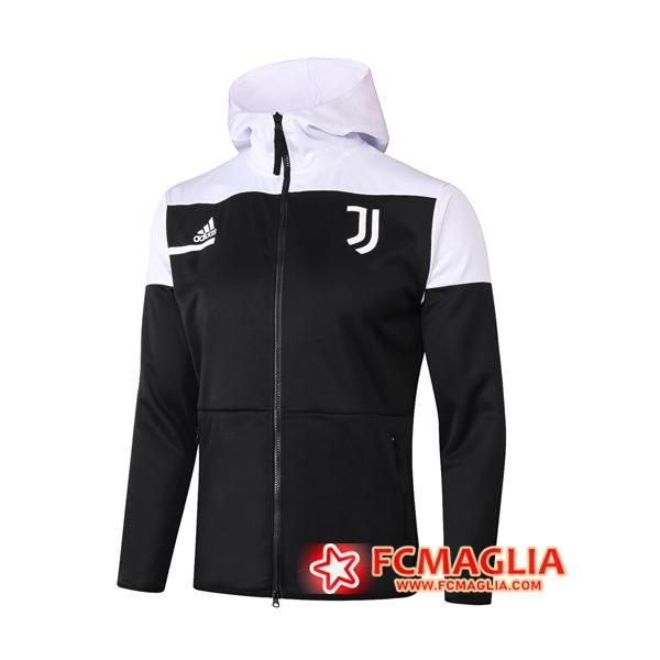 Giacca Calcio Con Cappuccio Juventus Nero 2020/21 | Venduto a ...